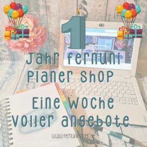 Ein Jahr Fernuni Planer Shop
